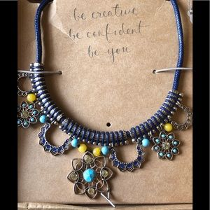 Golden Lotus Statement Necklace